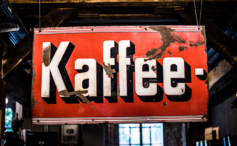 Schild Kaffee