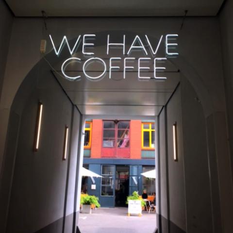 We have Coffee Hofeingang