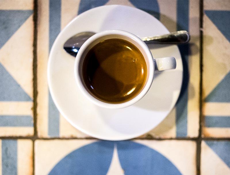 Espresso - Tasse von oben
